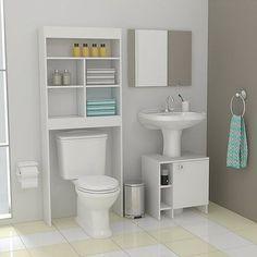 RTA Design Bath 25 x 63 x 160 cm - johanna Home Decor Bedroom, Bathroom Design Inspiration, Small Space Bathroom, Small Bathroom Decor, Bathroom Interior, Small Bathroom, Bathroom Renovations, Bathroom Decor, Bathroom Storage Over Toilet