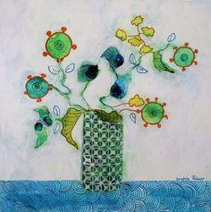 Flowers paintings by Sandrine Pelissier