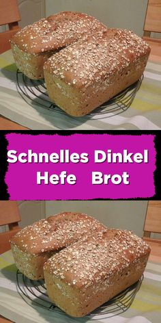 Schnelles Dinkel Hefe Brot Quick spelled - yeast - bread - with walnut kernels and sunflower seeds. No Yeast Bread, Sugar Bread, Yeast Bread Recipes, Bread Baking, Low Carb Breakfast, Vegan Breakfast Recipes, Homemade Sandwich Bread, Easy Bread, Detox Recipes