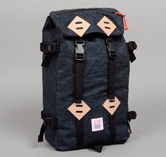 TH-S & CO. KLETTERSACK, SELVEDGE HEMP BLEND DENIM, INDIGO :: HICKOREE'S HARD GOODS