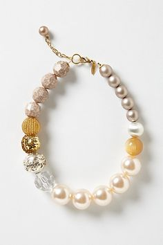 Mixed Alloy Necklace #anthropologie