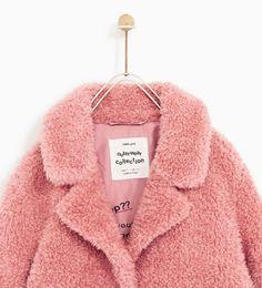 Image 2 of THREE-QUARTER-LENGTH FAUX SHEARLING COAT from Zara