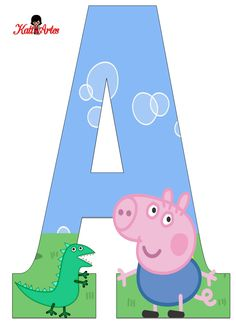 EUGENIA - KATIA ARTES - BLOG DE LETRAS PERSONALIZADAS E ALGUMAS COISINHAS: Junho 2014 Bolo Da Peppa Pig, Cumple Peppa Pig, Birthday Clipart, Pig Birthday, Abecedario Baby Shower, Cumple George Pig, Pippa Pig, Peppa Pig Printables, George Pig