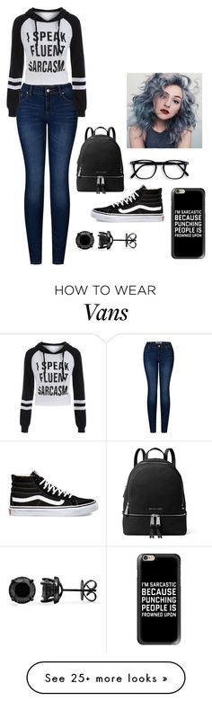 """Sarcasm"" by crazybacon9 on Polyvore featuring 2LUV, MICHAEL Michael Kors, Vans and Casetify"