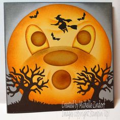 2016 Witch Card created by Michelle Zindorf using Stampin' Up! Halloween Paper Crafts, Halloween Cards, Halloween Scrapbook, Fall Cards, Holiday Cards, Holiday Ideas, Halloween Scene, Fall Halloween, Halloween Ideas