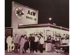 Sherman Oaks, CA - Back in the distinctive orange A&W Drive-In opened at Lemona Avenue and Ventura Boulevard, where carhops served frosty mugs of root beer and Papa and Mama burgers. Sonic Fast Food, A&w Restaurants, Ventura Boulevard, A&w Root Beer, Vintage Restaurant, San Fernando Valley, Soda Fountain, Vintage Ads, Vintage Photos