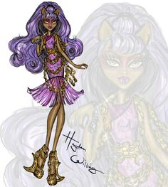 My 2nd hauntingly fabulous collab withMonster Highis here! Check out my illustrations ofClawdeen,Rochelle&Twylafrom the new movie 'Haunted'