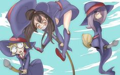 little witch academia themed wallpaper for desktops - little witch academia category