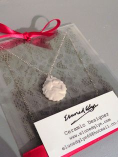 Hand-made Sterling Silver and Porcelain Cameo Necklace    www.facebook.com/SeramegElunedGlynCeramics www.elunedglyn.com