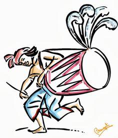 Graphics and Folk Assam: Clipart & Design ক্লিপ আৰ্ট Dance Paintings, Indian Art Paintings, Durga Puja Wallpaper, Bengali Art, Bengali Culture, Festival Paint, Durga Painting, Durga Images, Dancing Drawings