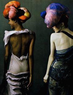 Jourdan Dunn and Raquel Zimmermann in 'The Magic Maker' by Annie Leibovitz for Vogue US
