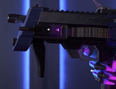 Overwatch Sombra close up of gun
