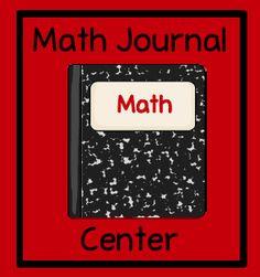 Ideas for a math journal center.