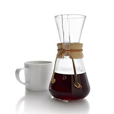 Chemex 3-Cup Coffee Maker in Pour Over Coffee Makers | Crate and Barrel
