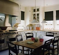 Country kitchen perfection by gil schafer love the hunter green roman