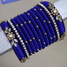 Silk Thread Earrings Designs, Silk Thread Bangles Design, Silk Thread Necklace, Silk Bangles, Bridal Bangles, Jewelry Design Earrings, Thread Jewellery, Bangle Set, Thread Work