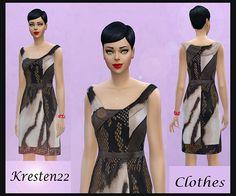 Sims Fans: Animal print dress by Kresten 22 • Sims 4 Downloads