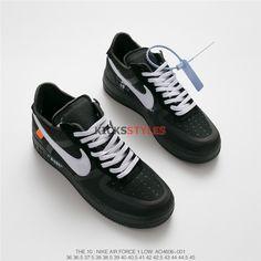 23d55d05632 Off-White x Nike Air Force 1 Black White AO4606-001 Custom Air
