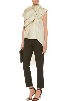 Shop on-sale Rick Owens Galle draped silk-gazar gilet. Browse other discount designer Jackets & more on The Most Fashionable Fashion Outlet, THE OUTNET.COM