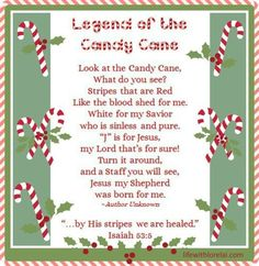 A wonderful story of the meaning and legend behind the Candy Cane. Get the free printables. One to frame and display and the other to attach to a candy cane. Great for school treats and party favors! Candy Cane Poem, Candy Cane Story, Candy Cane Crafts, Candy Canes, 12 Days Of Christmas, A Christmas Story, Christmas Candy, Christmas Crafts, Christmas Poems