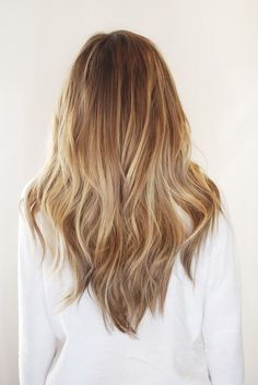 Golden Blonde & Brown Balayage
