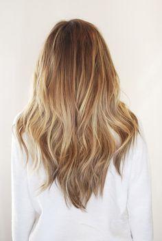 Golden Blonde & Brown Balayage