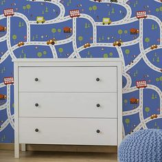 A wide range of Wallpaper available to buy today at Dunelm, the UK's largest homewares and soft furnishings store. Boys Room Wallpaper, Of Wallpaper, Blue Wallpapers, Blue Backgrounds, Kids Furniture, Furniture Decor, Car Bedroom, Soft Furnishings, Interior Inspiration
