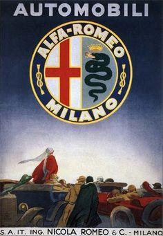 Vintage Advertising Posters | Alfa Romeo