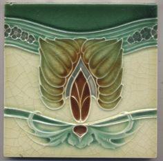 Super rare  Richards  Ornament  Jugendstil  Fliese  art  nouveau tile