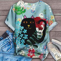 Cat Shirt Bird Shirt, Cat Shirts, Vera Bradley Backpack, Drawstring Backpack, Tees, Fashion, Moda, T Shirts, La Mode