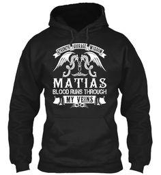 MATIAS - Blood Name Shirts #Matias