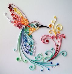 Quilling Art: Bird of Happiness Colourful Paper by BestQuillings