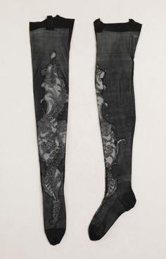 French Stockings - 1900-15 - Silk - Made for Rita de Acosta Lydig - The Metropolitan Museum of Art - @~ Mlle