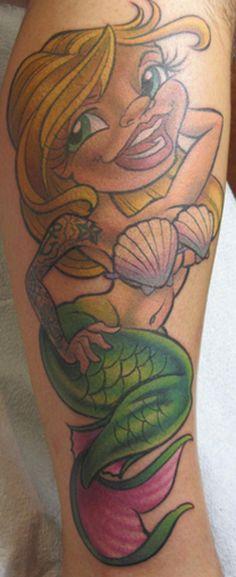 Mermaid Pin Up Tattoo - Jime Litwalk