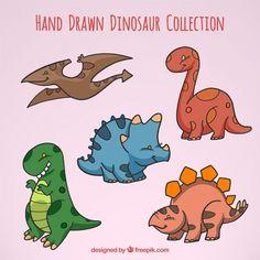 dinossauros do bebê Esboços Vetor grátis