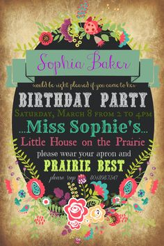 Little House on the Prairie Birthday Party