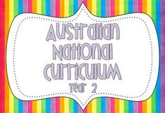 FREE Year 2 Australian National Curriculum Posters. Also available for Foundation/Prep, Year 1 and Year 3.
