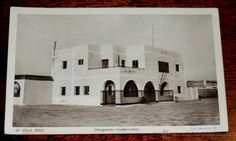 POSTAL DE VILLA BENS. N. 68. SAHARA ESPAÑOL. DELEGACION GUBERNATIVA. FOTO HERNÁNDEZ GIL. FOTOGRABADO - Foto 1