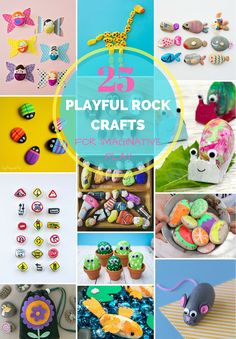 25 Playful Rocks For Imaginative Play. These cute rocks projects are fun pretend play ideas for kids!