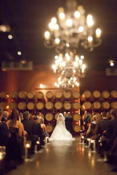 Can a wine cellar with chandeliers possibly be trumped as a wedding venue?! Just stunning.