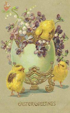 Card vintage ornaments easter