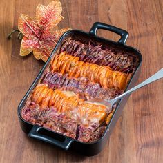Hasselback scalloped sweet potatoes - leave out the brown sugar and add garlic