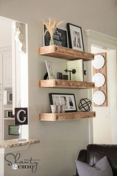 Or give your plain furniture a DIY rustic wood makeover.