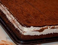 xyz 1 of 1 53 {Felie de lapte Kinder Pingui} Chocolate and Condensed Milk Mousse Cake Baking Recipes, Dessert Recipes, Desserts, Croatian Cuisine, Milk Cake, Croatian Recipes, Tiramisu Cake, Mousse Cake, Breakfast Bake