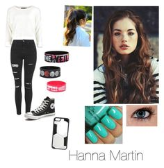 Hanna Martin by lillyhemmo96 on Polyvore featuring polyvore, beauty, CellPowerCases, Topshop and Converse