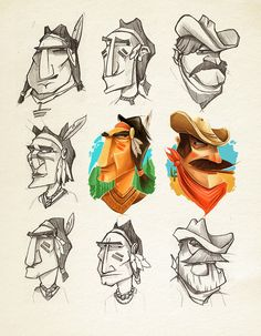 Awesome Cowboy Character Illustrations