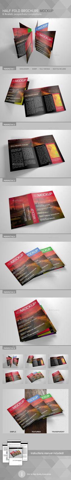 716 best Brochure Mockup Template images on Pinterest - half fold brochure template