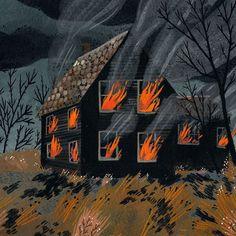House Fire by beccastadtlander on Etsy https://www.etsy.com/ca/listing/78596653/house-fire