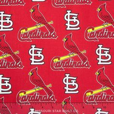 MLB Major League Baseball - St. Louis Cardinals Allover Yardage - Fabric Traditions - Fabric Traditions