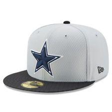6fbcb8f85568f DALLAS COWBOYS 2017 NFL NEW ERA 59FIFTY GRAY SIDELINE FITTED HAT CAP  40 Dallas  Cowboys Pro